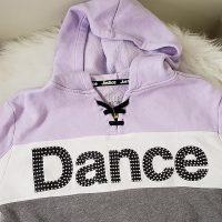 Justice Active Dance Little Girl's Long-Sleeve Crop Hoodie