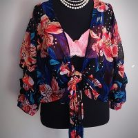 Live 4 Truth Double Ruffle Floral Top Size S