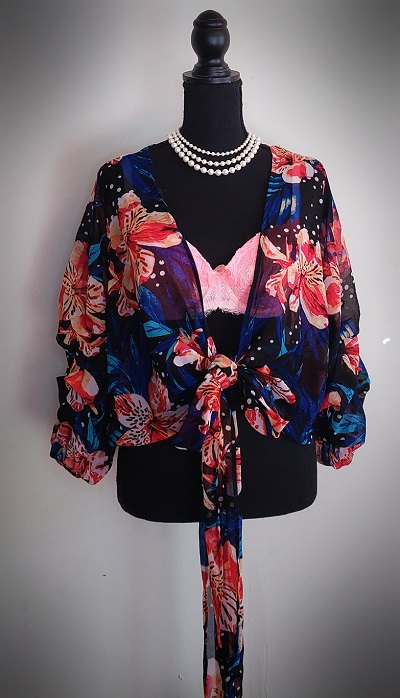 Live 4 Truth Double Ruffle Floral Top Size S 3