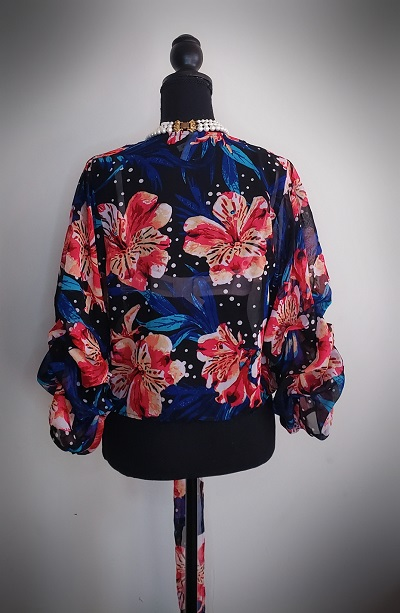 Live 4 Truth Double Ruffle Floral Top Size S 4