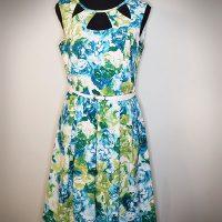 CB Established 1962 Green Floral Dress With Belt