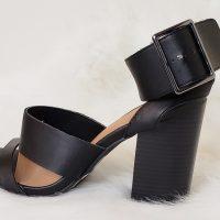 Wild Diva Women's Open Toe High Chunky Heel Ankle Strap Platform Sandal Shoes