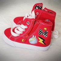 Josmo Little Girls Minnie Mouse High Top Sneakers