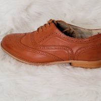 Wanted Classic Modern Formal Oxford Wingtip Lace Up Dress Shoes