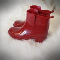 Women's Ladies Shiny Short Ankle Rain Winter Boots