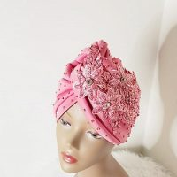 Fashionable Stoned Lacey Turban