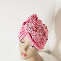 Fashionable Stoned Lacey Turban