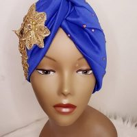 Royal Blue Beautiful Turban Hat