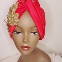 Red Beautiful Turban