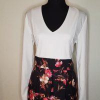Women's Long-Sleeve V-Neck Mini Dress