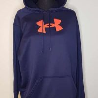 Under Armour Pullover Hoodie Big Logo Graphic Size L