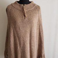 WestBound Women's Elegant Tassels Cloak Poncho Top Fringe Cape Shawl Size L