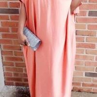 Off Shoulder Flared Peach Dress Size Small-Large
