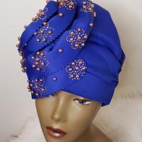 Women's Modern Turban/Hat (Blue)
