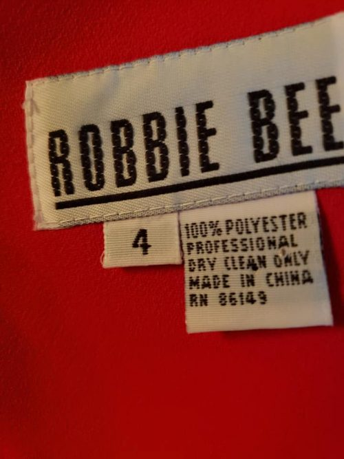 Robbie Bee Red Dress Size 4 6
