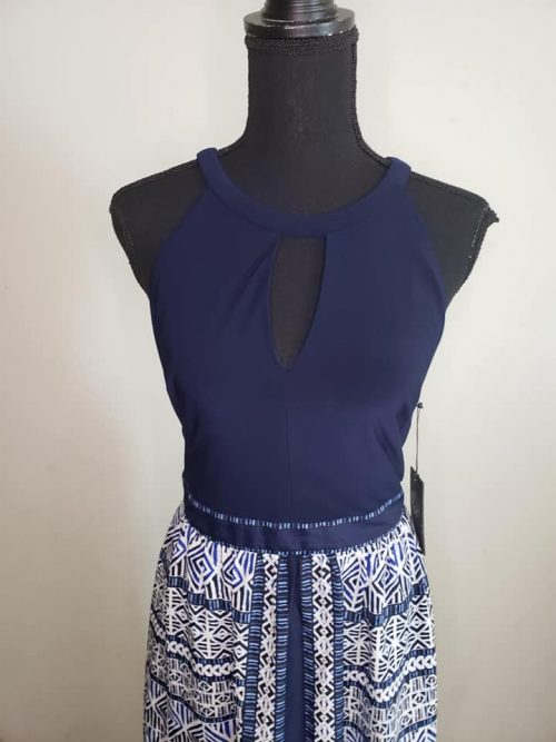 Vince Camuto Blue Maxi Dress Size 8 3
