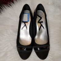 Anne Klein Sport Low Wedge Shoes Size 7 Black