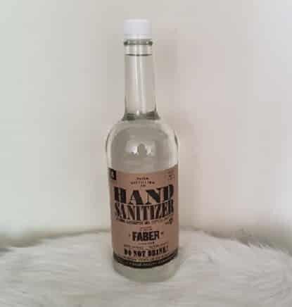 NEW Faber Hand Sanitation Antiseptic Liquid 80% Ethanol 1 Liter Bottle 3