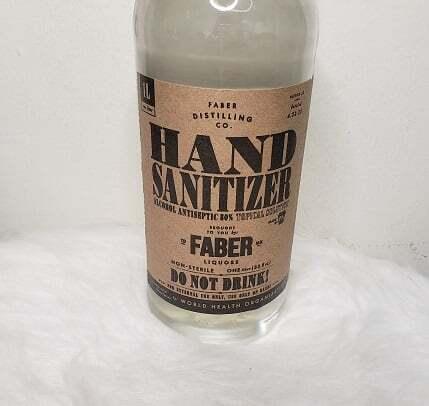 NEW Faber Hand Sanitation Antiseptic Liquid 80% Ethanol 1 Liter Bottle 4
