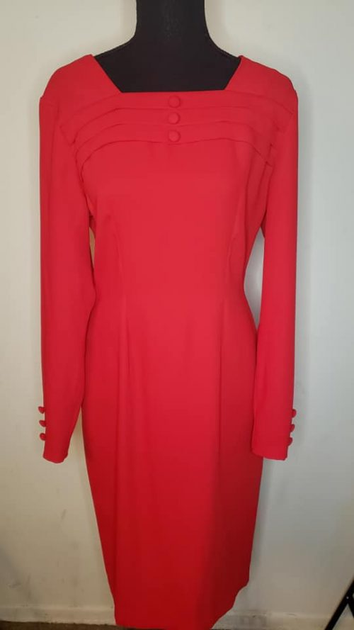Robbie Bee Red Dress Size 4 3