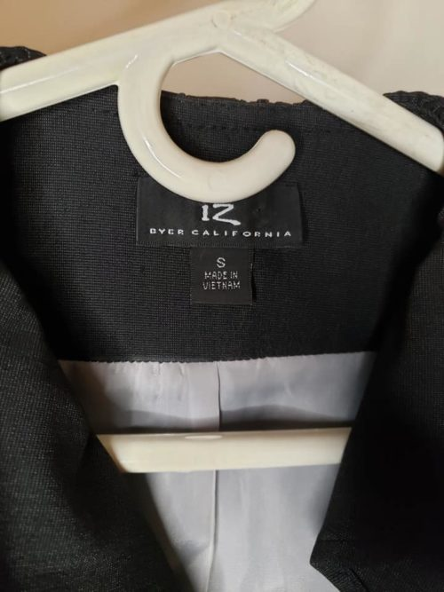 Women's Ruffle Jacket Size S Black 6