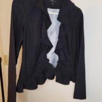 Women's Ruffle Jacket Size S Black