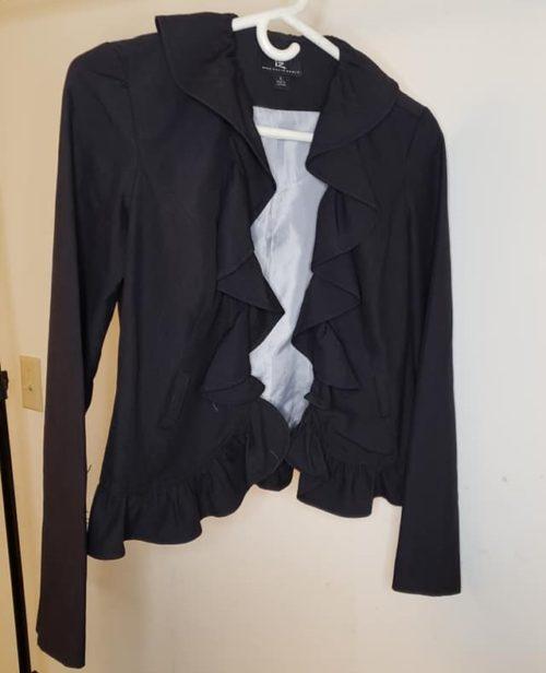 Women's Ruffle Jacket Size S Black 3
