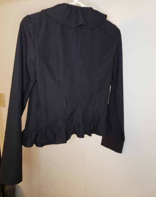Women's Ruffle Jacket Size S Black 4