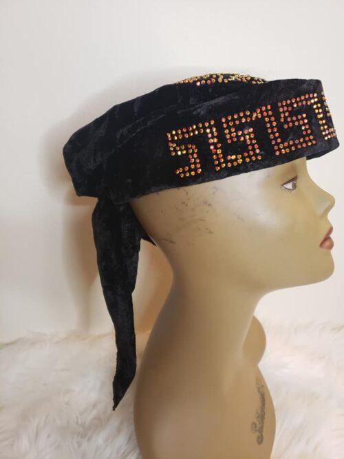 Latest Fancy Turban Hat Black 4