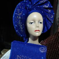 African Auto Gele with Ipele (Shawl)