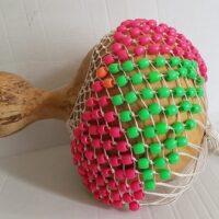 Pearl Folklore Shekere Large Green&Pink