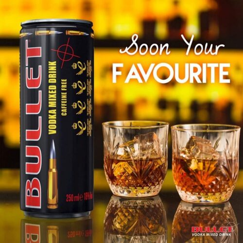 Pack Bullet Vodka Mixed Drink (Black) 250ML 3