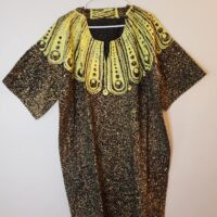 African Adire Dress One size